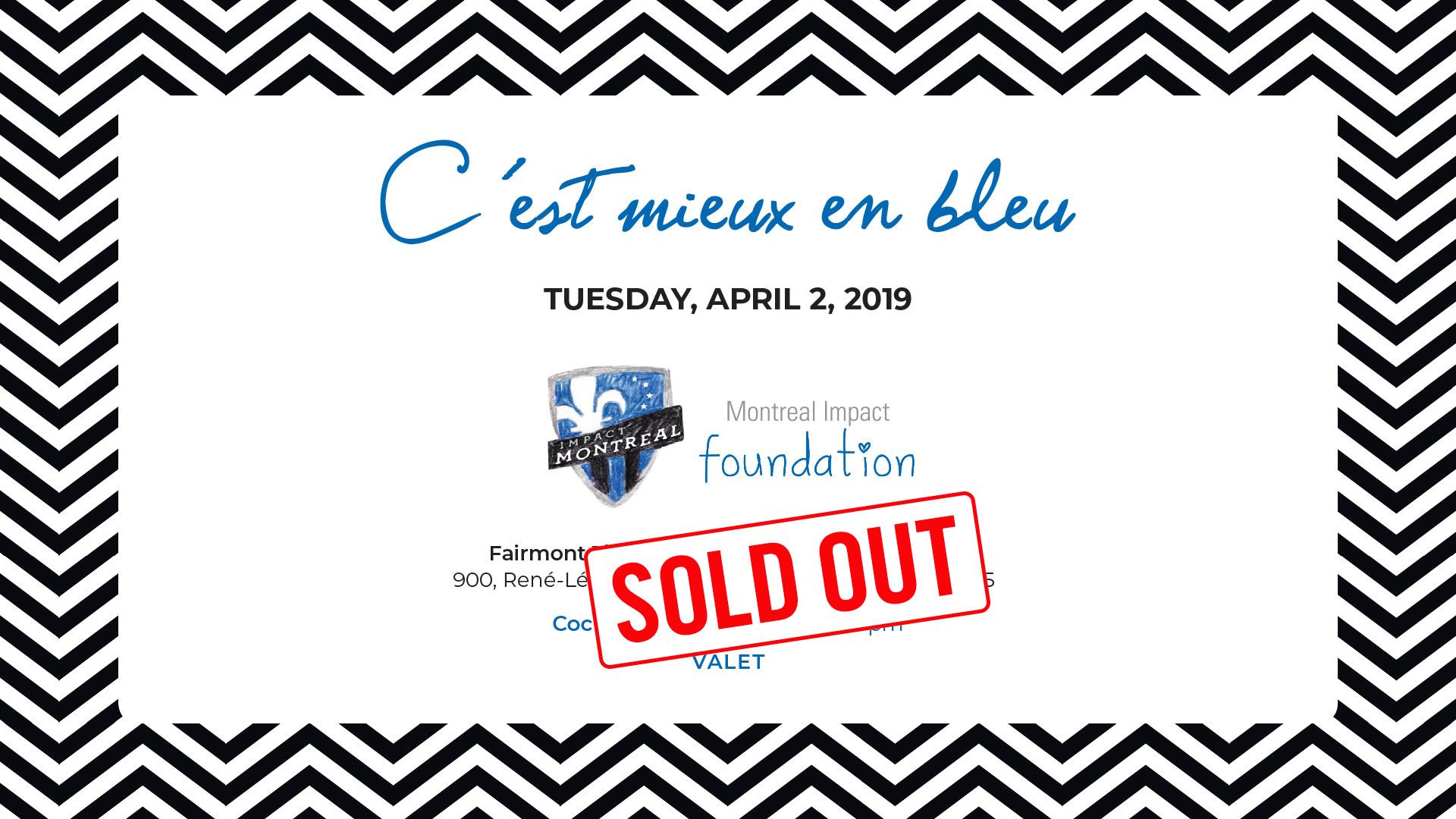"""The sixth edition of the """"C'est mieux en bleu"""" gala"""