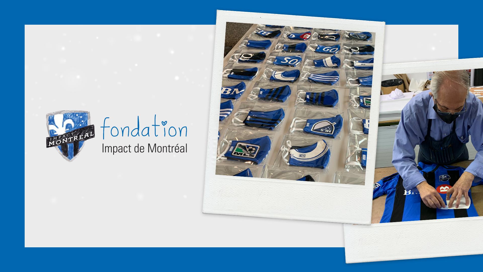 La Fondation fait don de sacs à dos et de masques