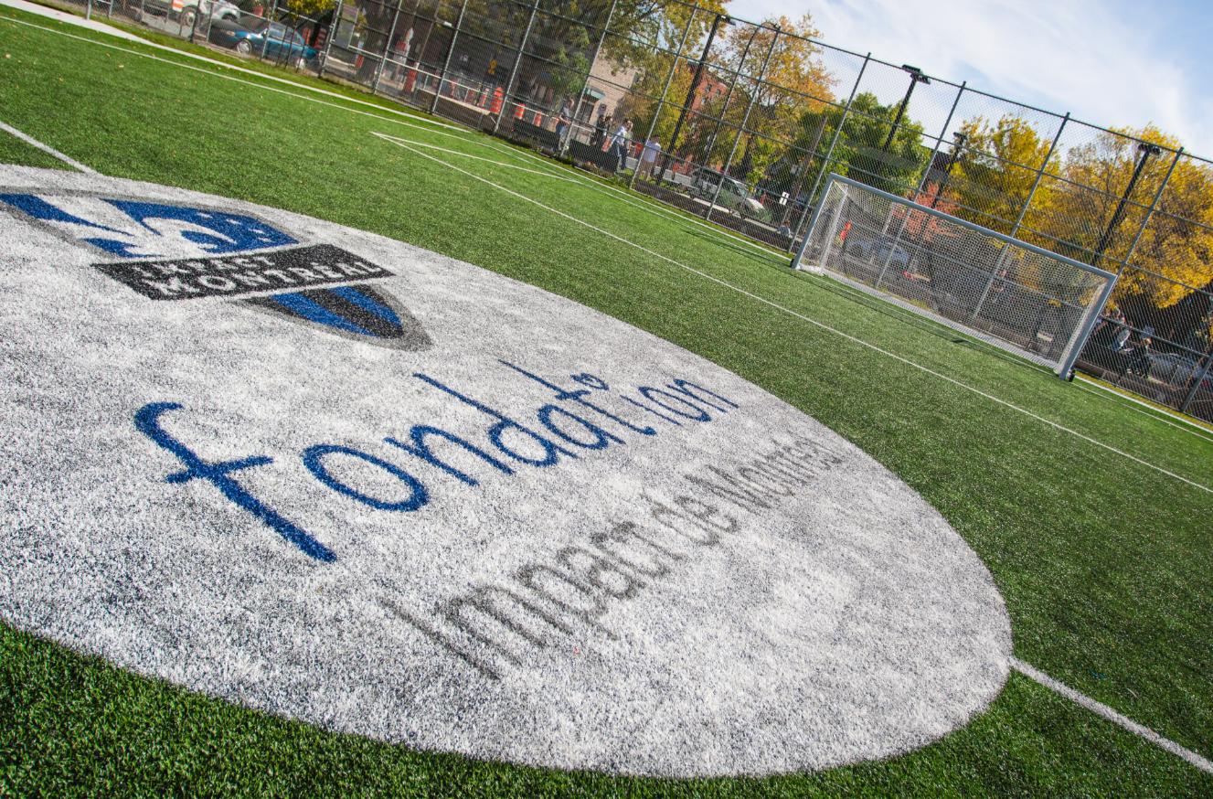 Le troisième terrain multisports de la fondation Impact de Montréal inauguré au Parc Paul-André Potvin